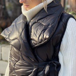 Longue veste sans manches