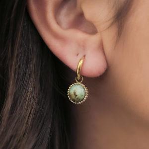 Boucles d'oreilles Pompadour - Zag